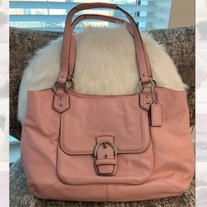 Coach Leather Pink Tote Bag